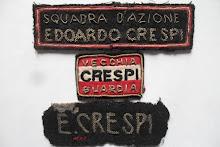 Distintivi in stoffa della squadra d'azione E. Crespi di Milano