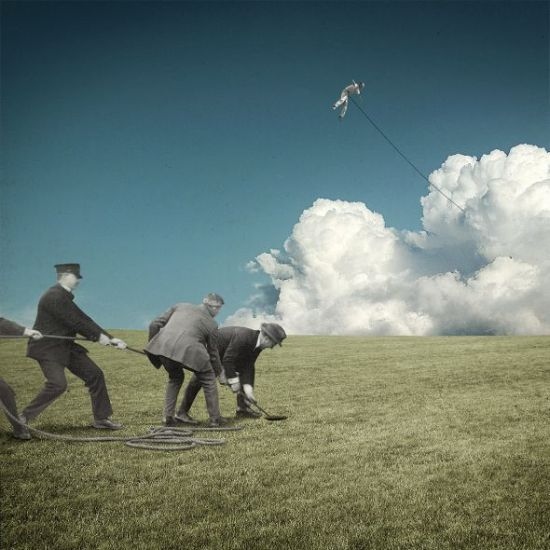 Joseba Elorza MiraRuido illustrations collages surreal vintage Kiteman
