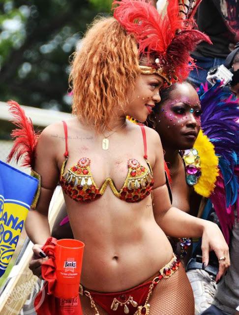 Rihanna Dresses Up For The Kadooment Parade In Barbados (PHOTOS)
