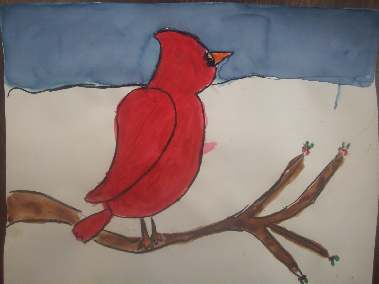 Crafts For Second Graders http://packhamspalette.blogspot.com/2011/12/2nd-grade-winter-cardinals.html