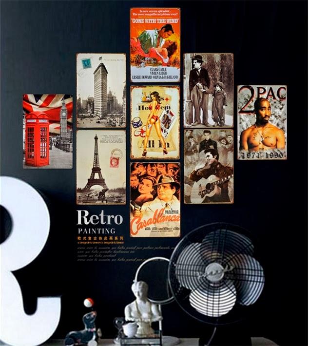 De lunares y naranjas mi rcoles de arquitectura decorar con carteles de cine - Poster decoracion ...