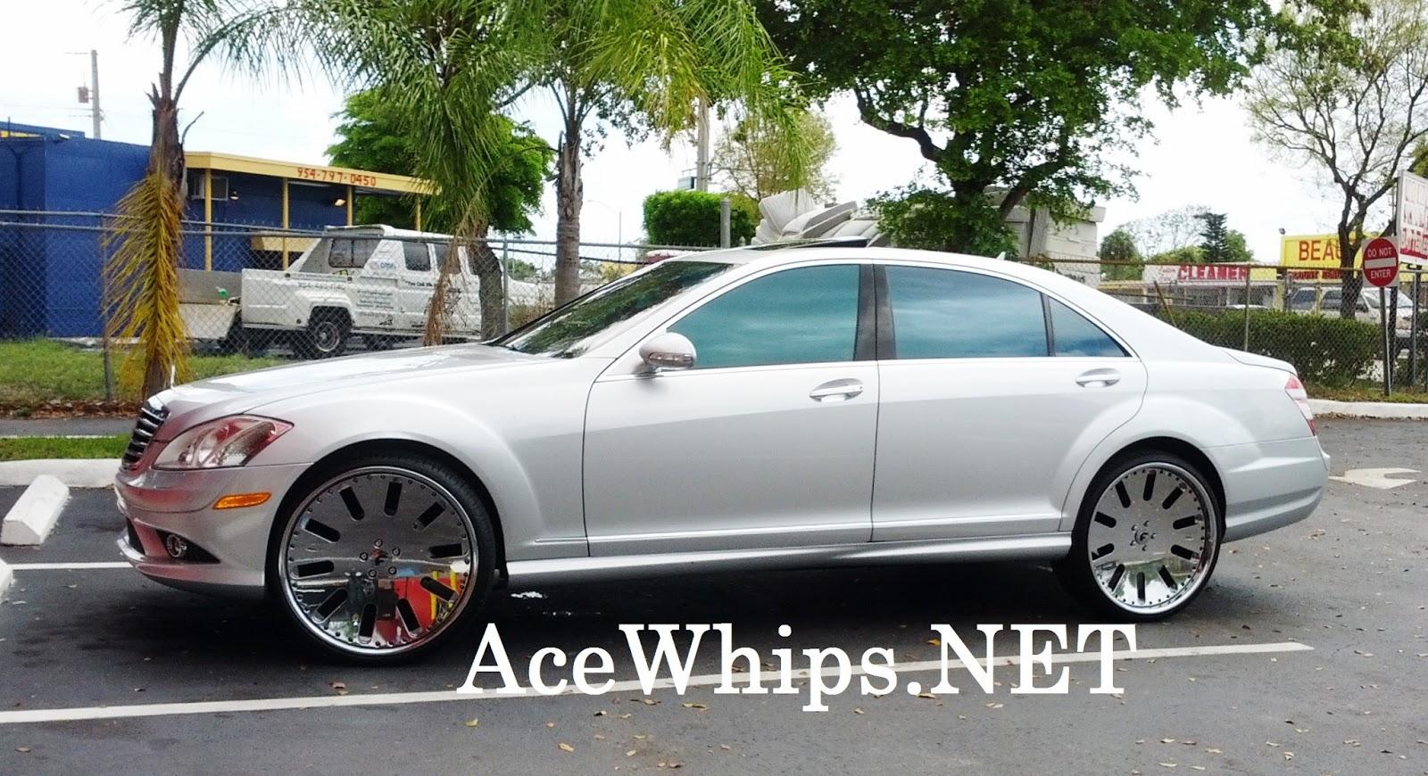 Ace 1 silver mercedes benz s550 on 24 aresto forgiatos for Mercedes benz rt 22