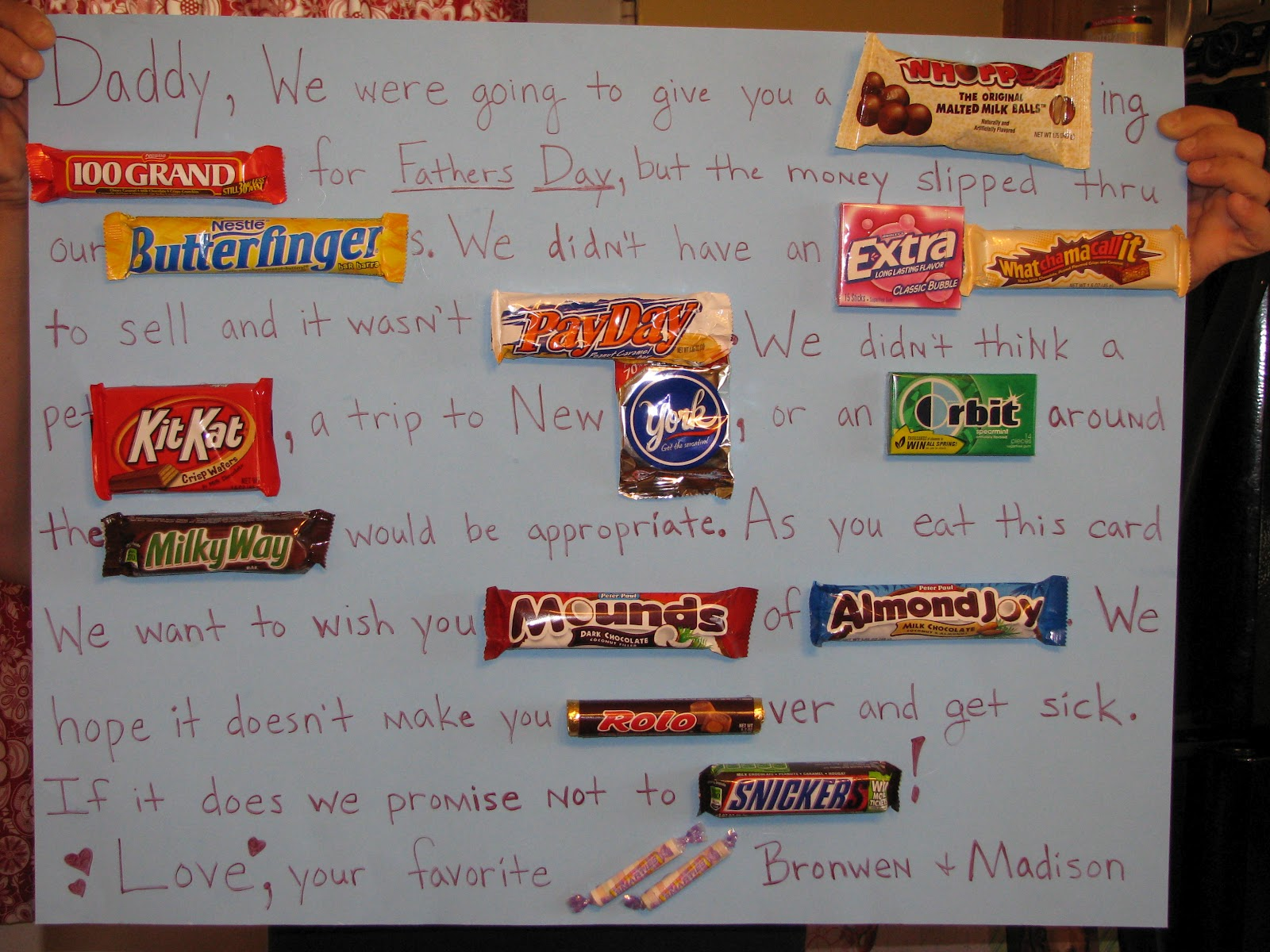 One Goofy Brown Chicken: Candy Bar Father's Day Card