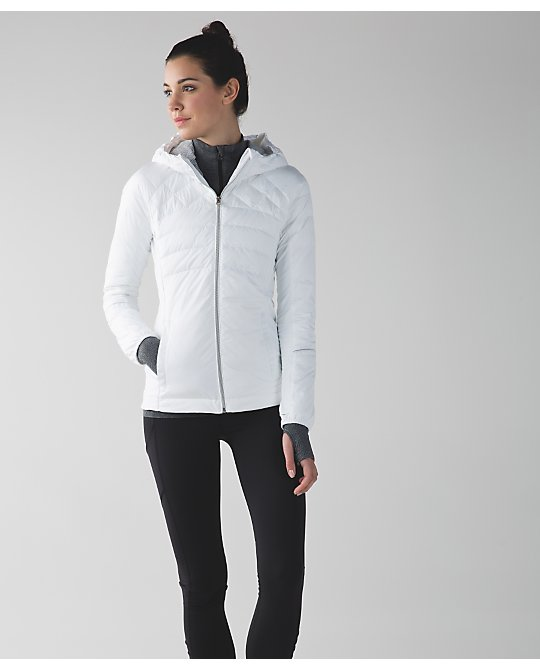 lululemon down-for-a-run jacket white