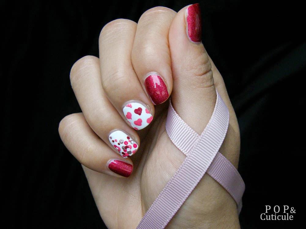 Pop'n Cuticule Rose Bower A england Octobre Rose Nailstorming