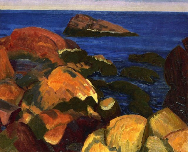 1917 Rocks, Weeds and Sea