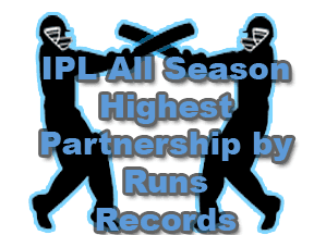 IPL Highest Partnership by Runs Records and logo IPL All Seasons Statistics