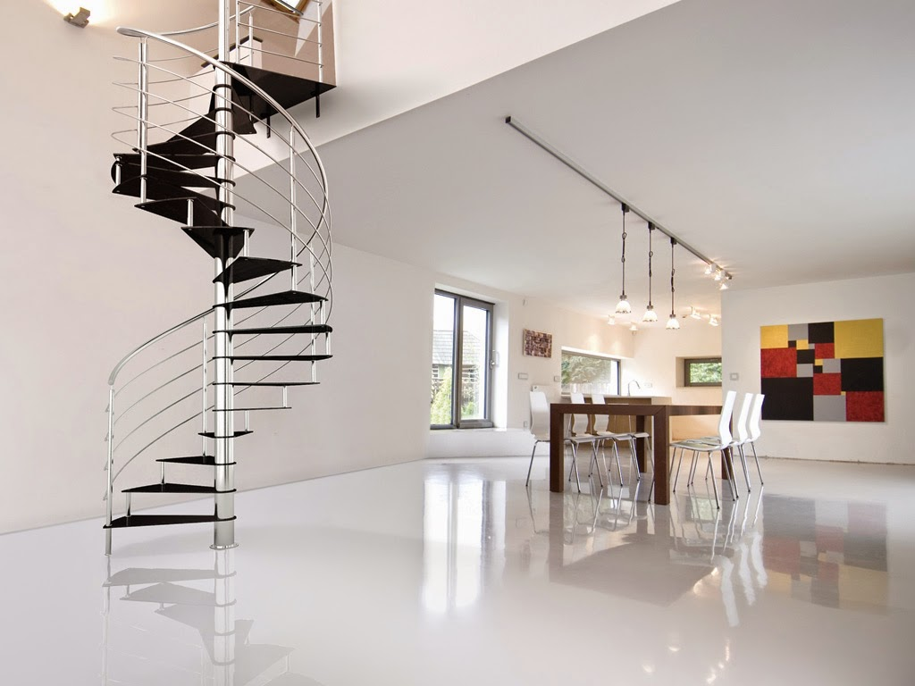 fantastic metal spiral stairs