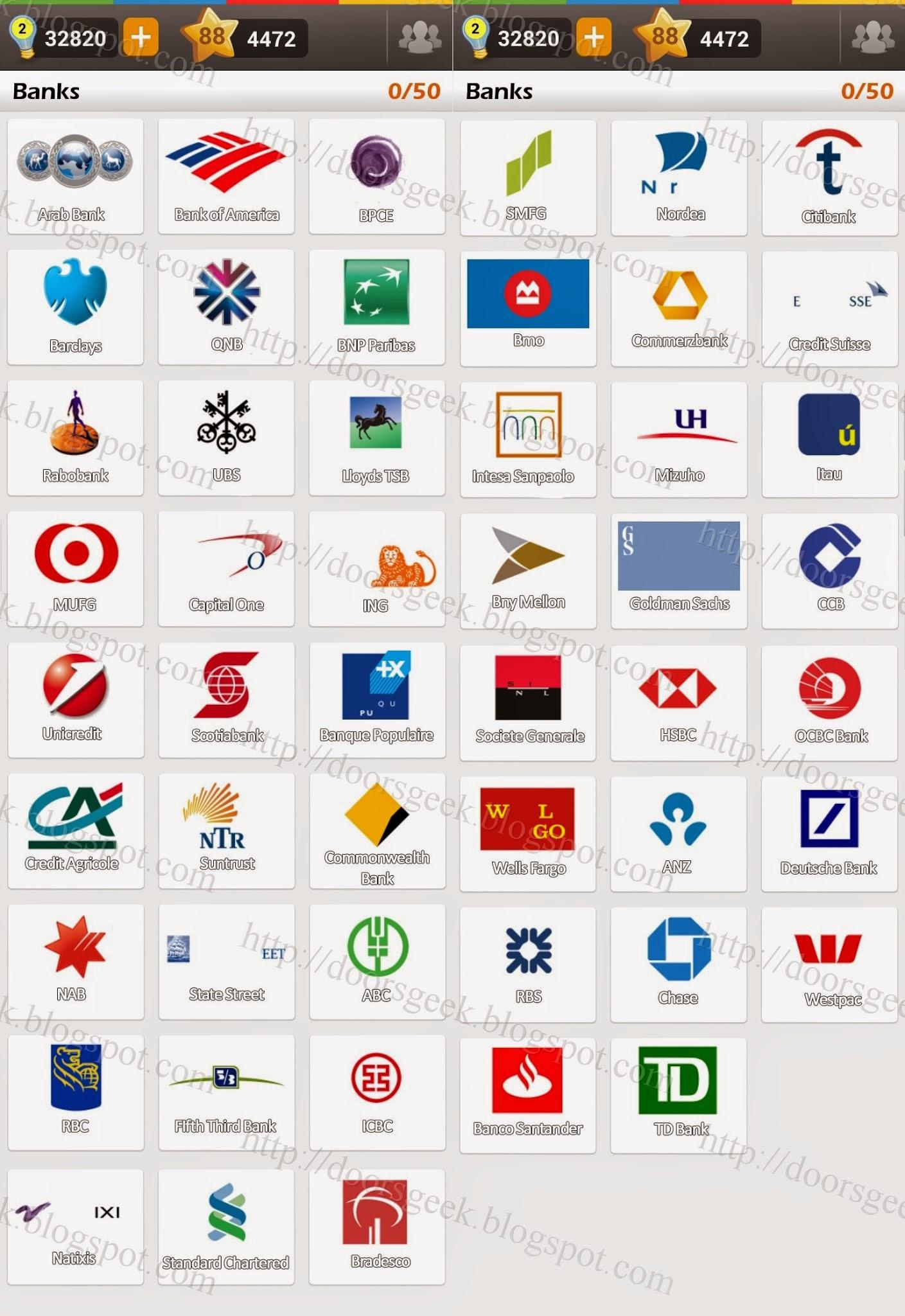 Logo game guess the brand bonus banks doors geek altavistaventures Images