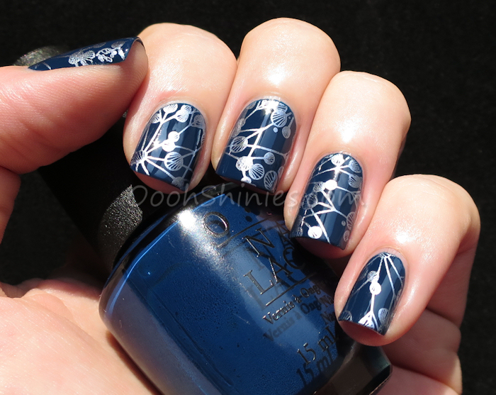 OPI I saw...U Saw...We Saw...Warsaw with Kiko 623 Blue and plate Lily Anna 09
