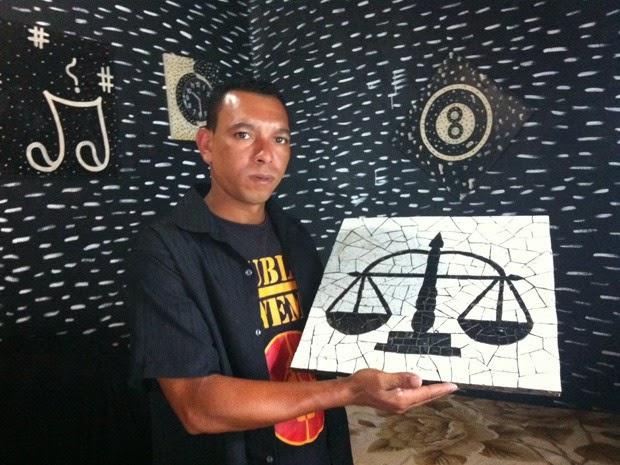 Artista de São Sebastião se destaca com mosaicos