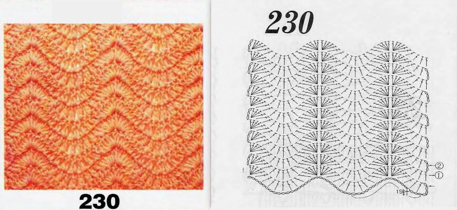 Вязание волны и зигзаги 105