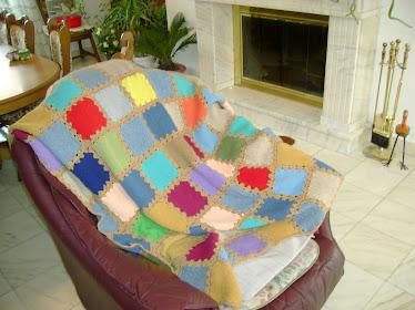patura tricotata si crosetata (din creatiile mele)