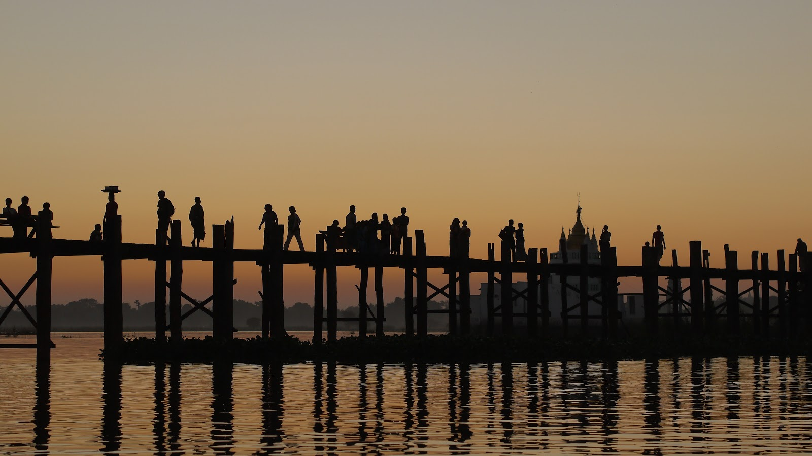 U Bein Bridge Myanmar sunset