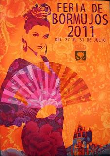 Bormujos - Cartel de Feria 2011 'Abanico' de Ricardo Arjonilla Álvarez