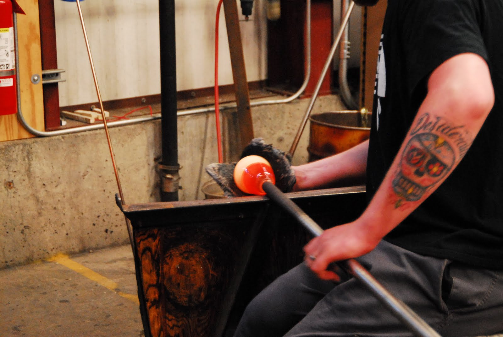 the world of glassblowing Glassblowing glassblowing is all about manipulating very hot, molten glass – it's stored in the furnace at about 2,100°f and kept between 1600° and 1900°f while working though glassblowing.