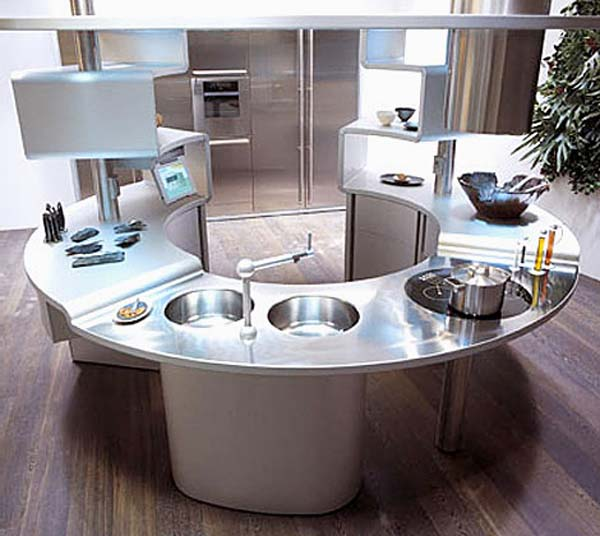 Futuristic kitchens kitchen design ideas the kitchen for Kitchenette layout ideas