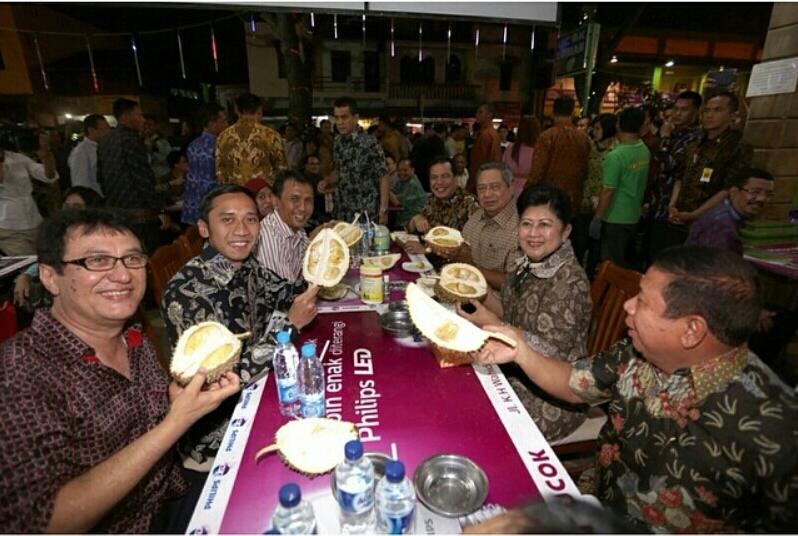 Presiden SBY Kunjungi Ucok Durian