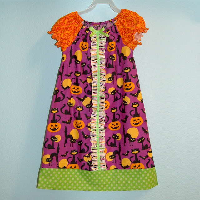 Halloween Ruffled Peasant Dress