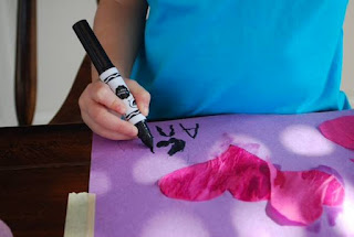 learn letters with preschoolers using markers