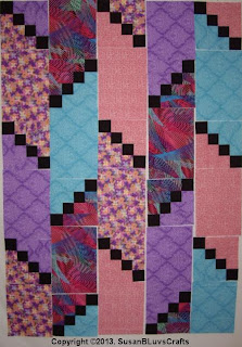 Diagonal Puzzle quilt blocks