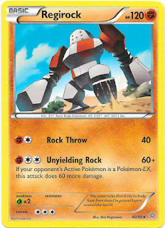 Regirock Ancient Origins Pokemon Card
