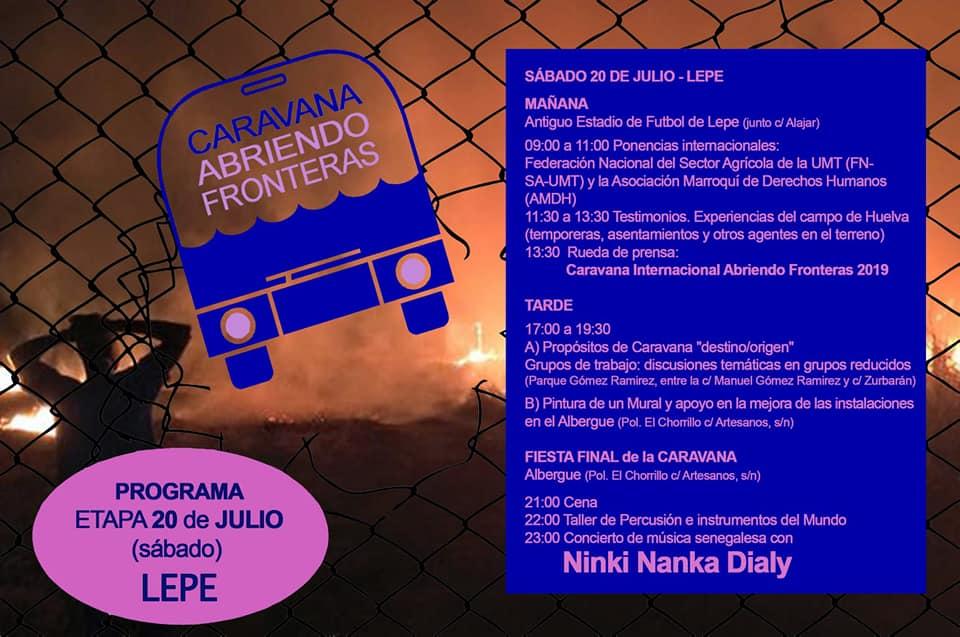 CARAVANA ABRIENDO FRONTERAS EN LEPE.