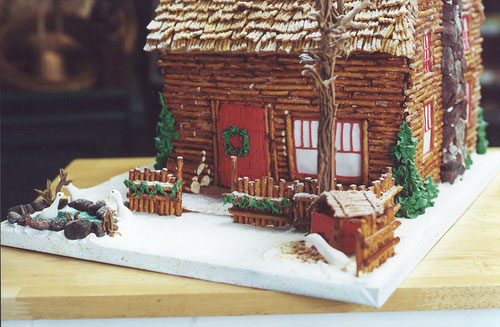 Winged snail inspiration gingerbread house for Gingerbread house inspiration