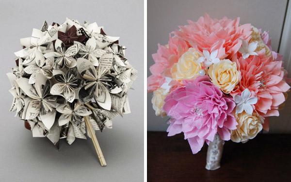 Букеты из бумажных цветов своими руками фото