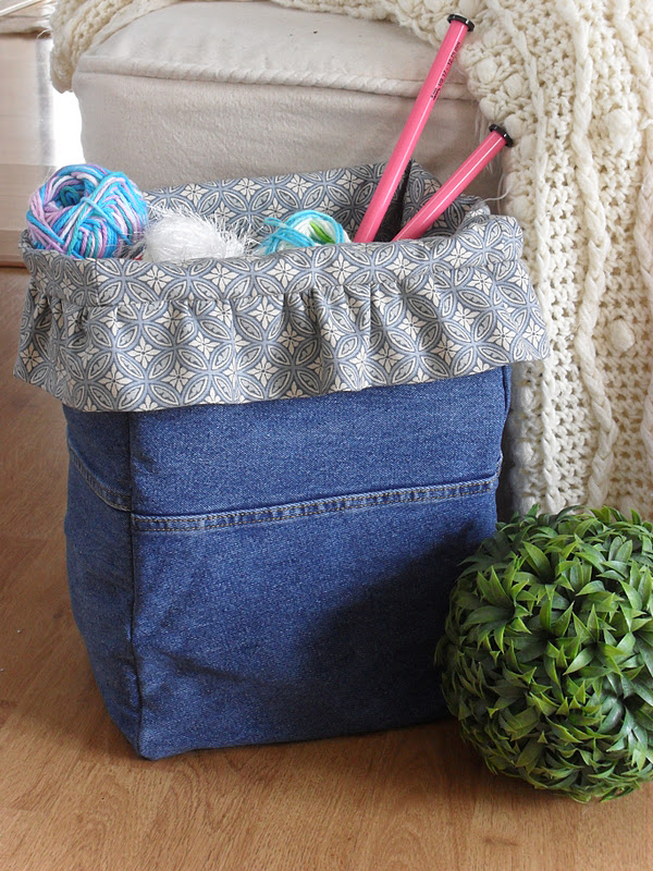 home frosting denim project bag