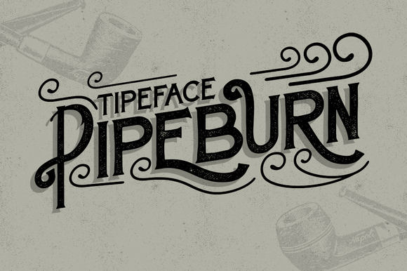Pipeburn Typeface Free Font : Freebies PSD