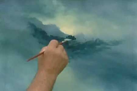 Bill Alexander paints a wonderful Seascape