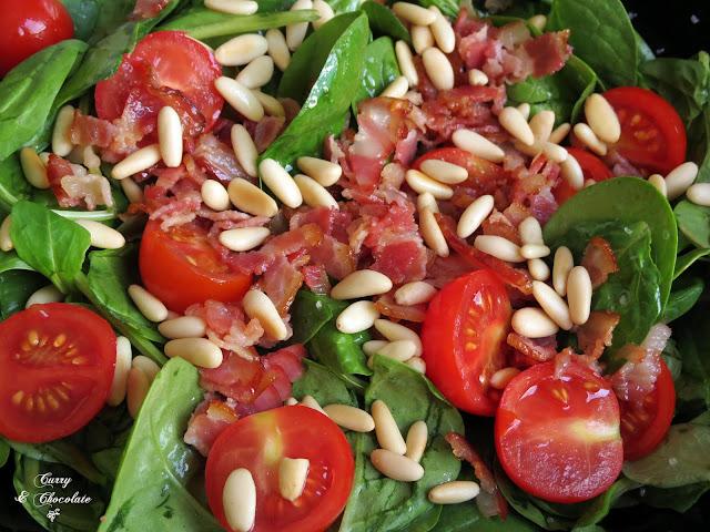 Ensalada de brotes nuevos de espinacas y canónigos - Baby spinach and  lamb's lettuce salad