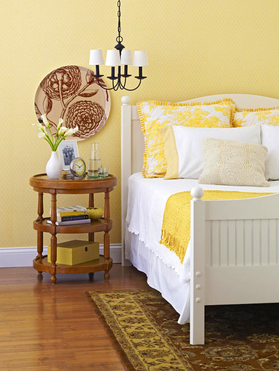 Modern Furniture: 2011 Bedroom Decorating Ideas With Yellow Color