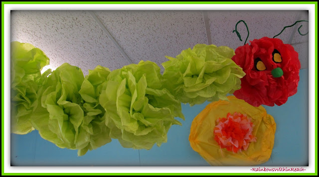 photo of: Classroom Decoration of Eric Carle's Hungry Caterpillar in Eric Carle RoundUP at RainbowsWithinReach