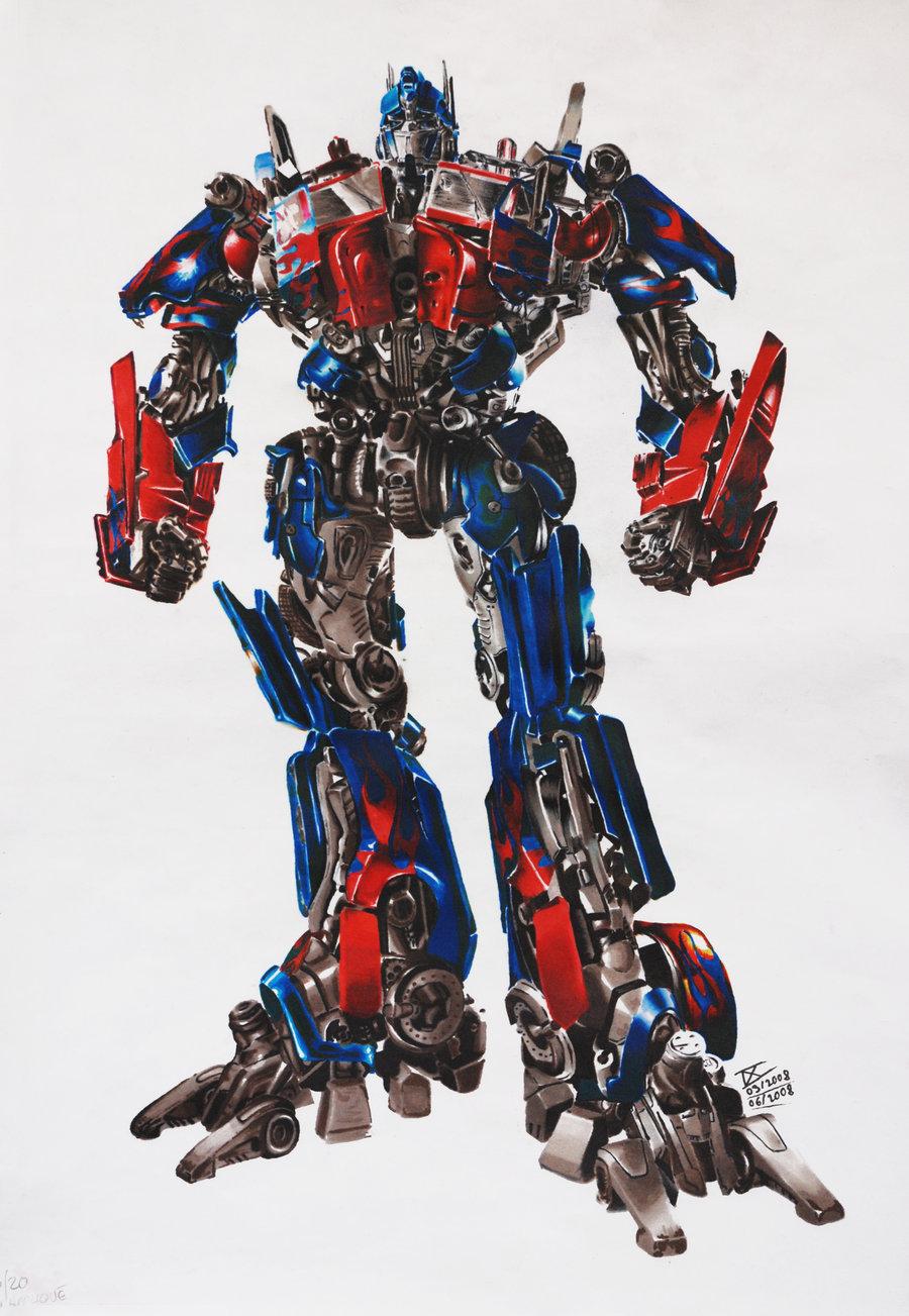 Ilustraciones y dibujos de transformers autobots y - Optimus prime dessin ...