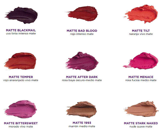 tonos Matte Revolution Lipstick Urban Decay