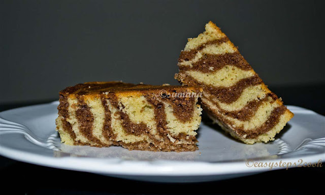 cake with zebra stripe
