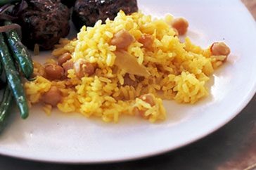 Saffron & chickpea pilaf recipe - How to make Saffron & chickpea pilaf