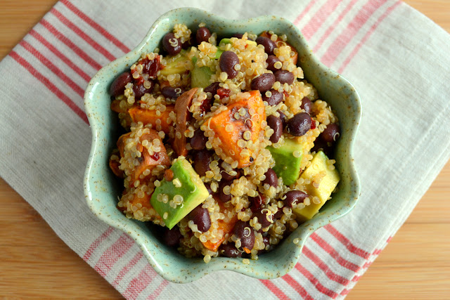 quinoa, sweet potato, and black bean salad with chipotle-lime dressing recipe