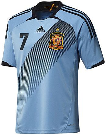 segunda camiseta selección española Eurocopa 2012