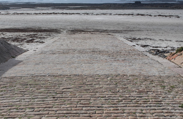 One of the slipways at St Ouen's Bay