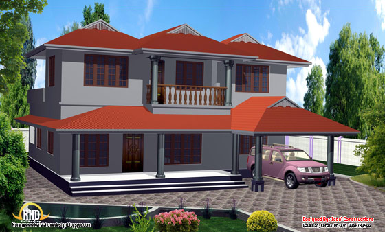 Duplex house elevation - 189 square meters (2000 Sq. Ft.) - February 2012