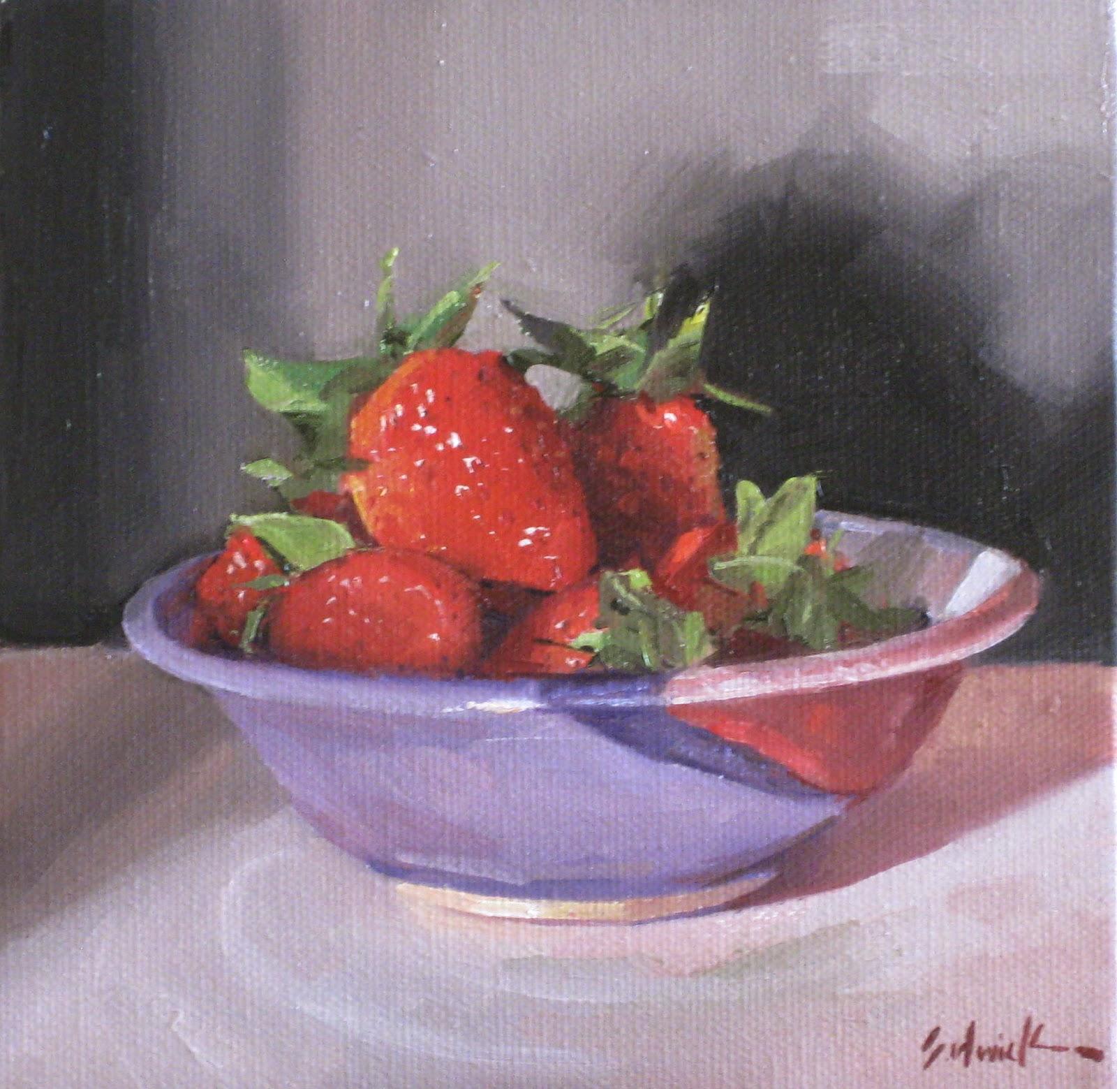 Sedwick Studio Purple Bowl Of Plums Fruit Bowl Still: Sedwick Studio: March 2012