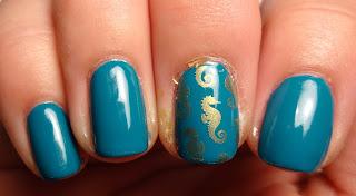Seahorse Stamped Nail