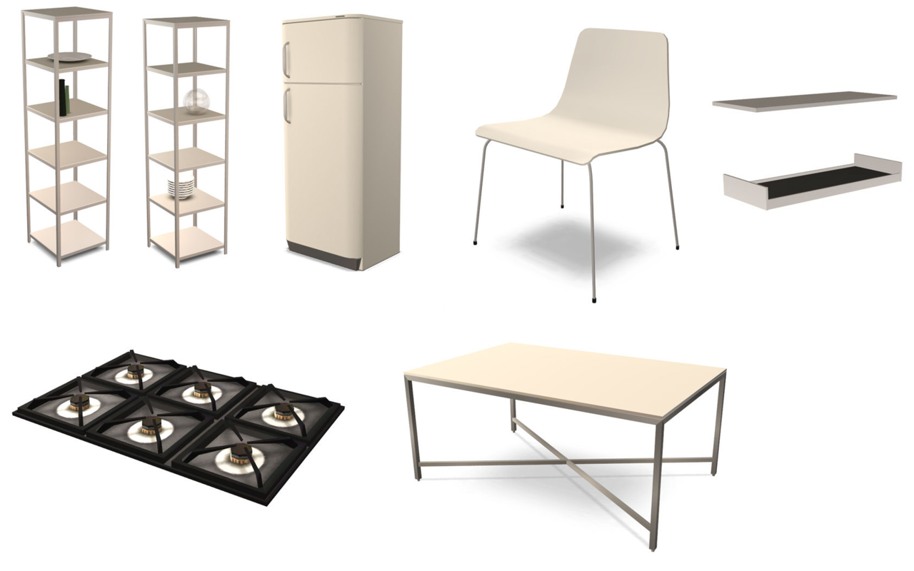 My Sims 3 Blog Updated Mono Kitchen Set By Zveki