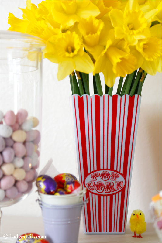 Daffodils in Popcorn Bucket