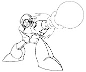 #10 Mega Man Coloring Page
