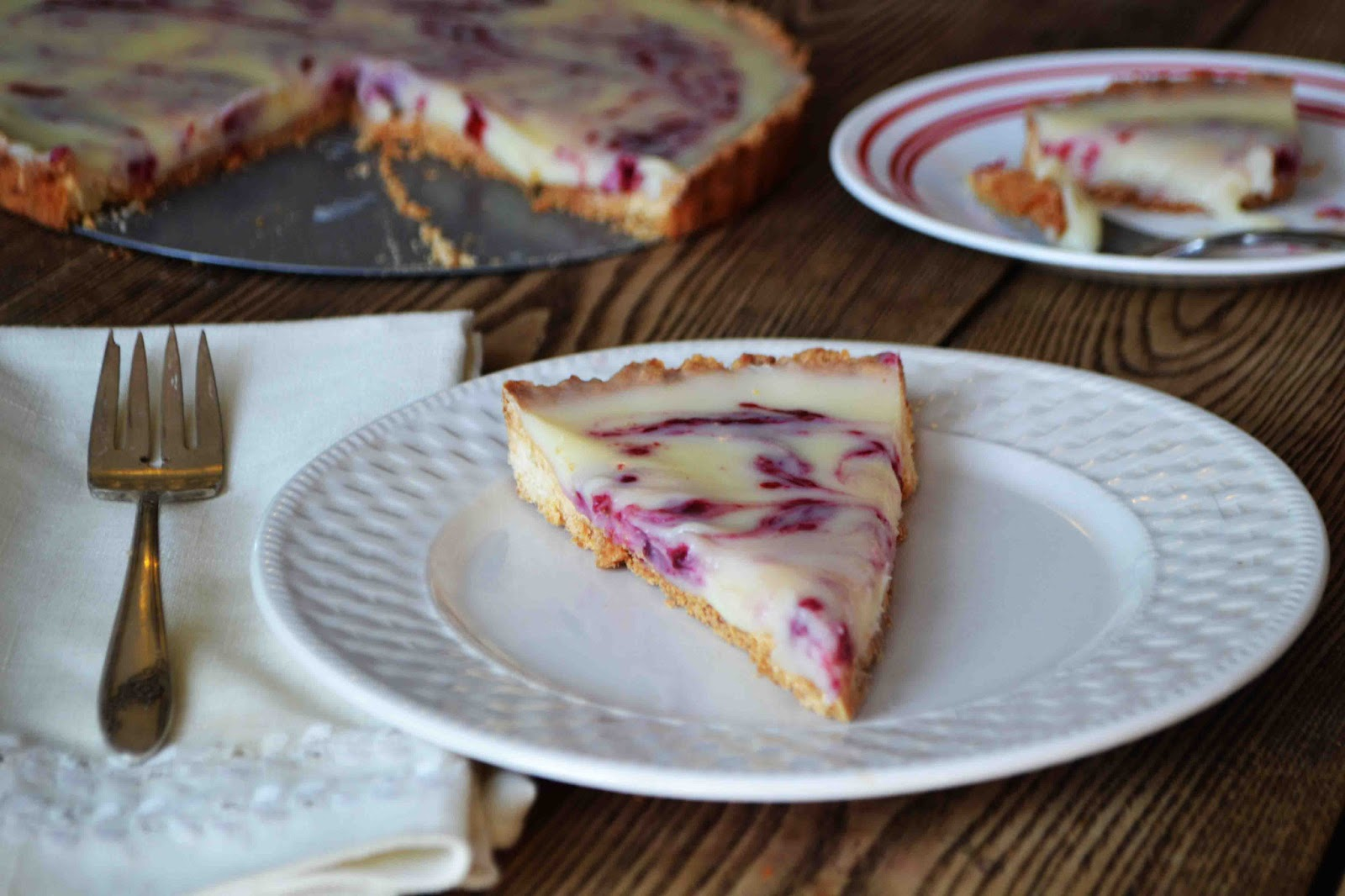 Bakeaholic Mama: White Chocolate Raspberry Tart