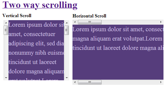 Two way scrolling in single div jquery 2 dotnet - Jquery scroll div ...